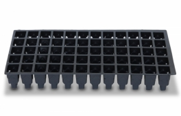 60-Cell Tray w/ 10X20 Flat